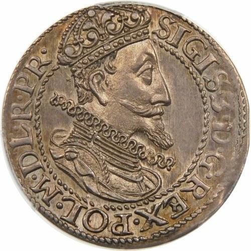 Zygmunt III Waza, Ort 1613, Gdańsk – kropka za łapą niedźwiedzia – piękna