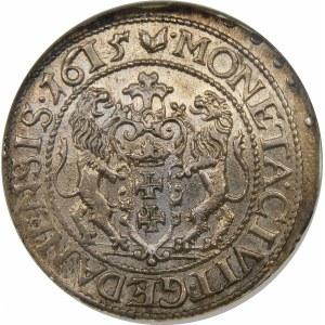 Zygmunt III Waza, Ort 1615, Gdańsk – wąska kryza – kropka za łapą niedźwiedzia – super
