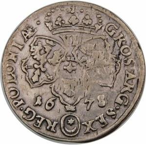 Jan III Sobieski, Szóstak 1678, Bydgoszcz – ozdobnik