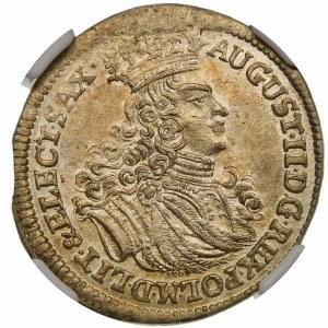 August II Mocny, Szóstak 1702 EPH, Lipsk – piękna