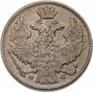 Zabór rosyjski, 15 kopiejek = 1 złoty 1838 MW, Warszawa – duch