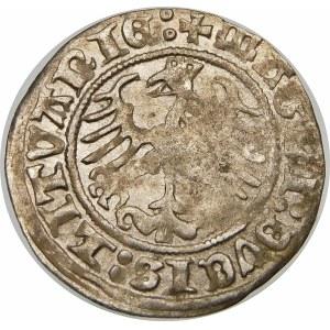 Zygmunt I Stary, Półgrosz 1512, Wilno – ukośny dwukropek, dwukropek