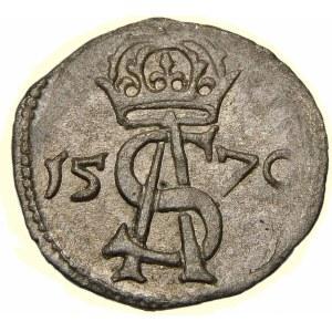 Zygmunt II August, Dwudenar 1570, Wilno - mała korona