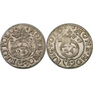 Zygmunt III Waza, Półtorak 1622, Bydgoszcz – Sas w tarczy owalnej – odmiany – zestaw (szt. 2)