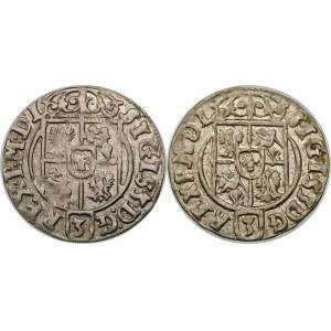 Zygmunt III Waza, Półtorak 1624, Bydgoszcz – Sas w tarczy owalnej – warianty – zestaw (szt. 2)