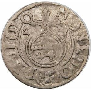 Zygmunt III Waza, Półtorak 1624, Bydgoszcz – Sas w tarczy owalnej – SIGIR