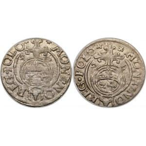 Zygmunt III Waza, Półtorak 1626, Bydgoszcz – Półkozic w tarczy ozdobnej – warianty – zestaw (szt. 2)