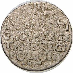 Zygmunt III Waza, Trojak 1621, Kraków – przebitka – REG/NN