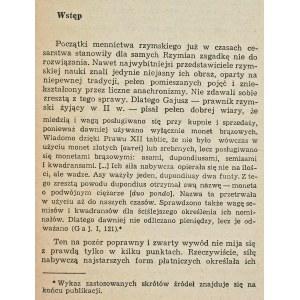 Morawiecki Lesław, Początki mennictwa rzymskiego