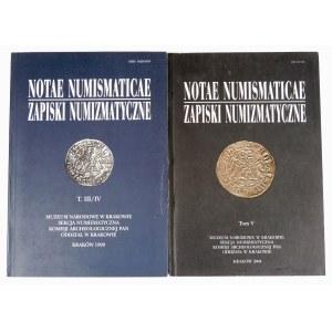 Zapiski numizmatyczne T. III/IV i V – zestaw (2 szt.)