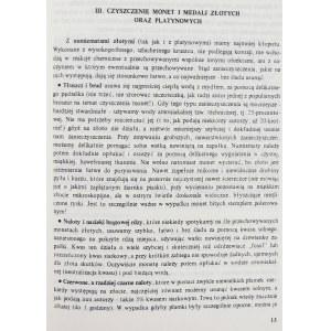 Kurpiewski Janusz, Czyszczenie, konserwacja oraz przechowywanie monet, medali i banknotów