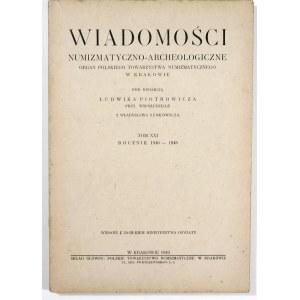 Wiadomości Numizmatyczno-Archeologiczne Tom XXI (1940-1948)