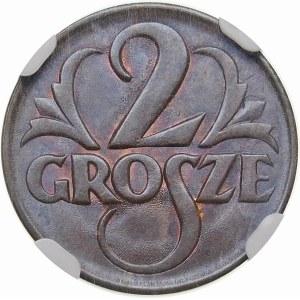 2 grosze 1925 - efekt ducha