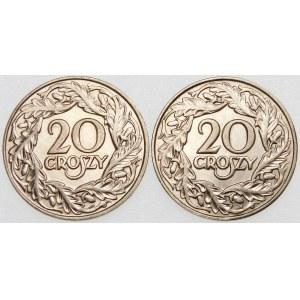 ZESTAW 20 groszy 1923 - 2 sztuki
