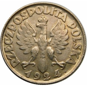 2 złote Żniwiarka H 1924 cienka szyja