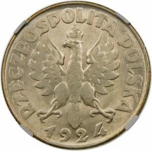 2 złote Żniwiarka 1924 odwrotka