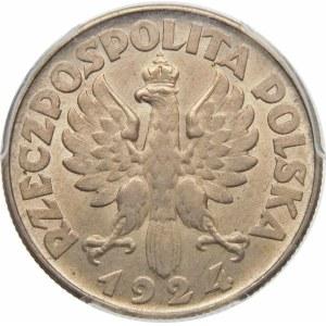 2 złote Żniwiarka 1924 odwrotka, Filadelfia