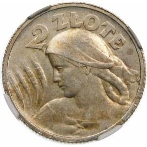 2 złote Żniwiarka róg i pochodnia 1924
