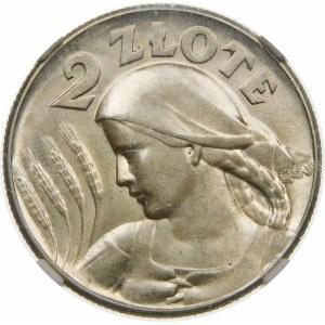 2 złote Żniwiarka bez kropki 1925