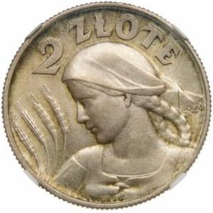 2 złote Żniwiarka kropka 1925 Wyjątkowa
