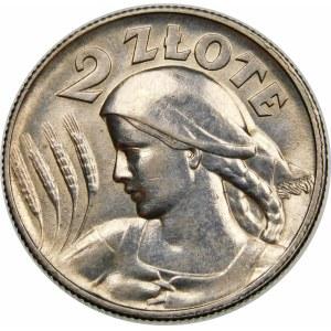 2 złote Żniwiarka kropka 1925