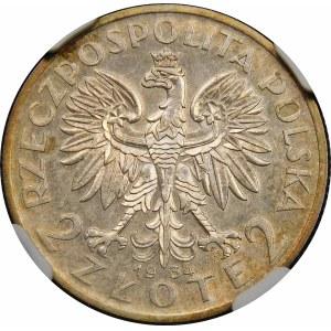 2 złote Głowa Kobiety 1934