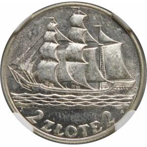 2 złote Żaglowiec 1936 Wyjątkowy