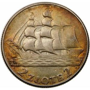 2 złote Żaglowiec 1936