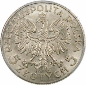 5 złotych Głowa Kobiety 1932 BZM