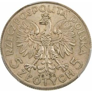 5 złotych Głowa Kobiety 1934
