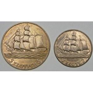 ZESTAW 5 złotych i 2 złote Żaglówki