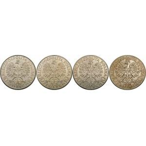 ZESTAW 10 złotych Głowa Kobiety - 4 sztuki