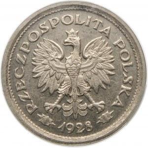 PRÓBA 1 złoty 1928 wieniec z liści dębowych