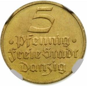 5 fenigów Flądra 1932 Wyjątkowa