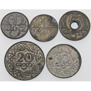 ZESTAW Generalna Gubernia - 5 monet