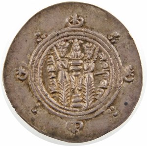Persja, Sasanidzi, hemidrachma ok. VIII w. n.e.