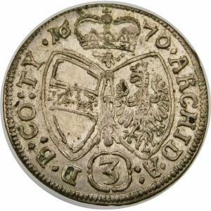 Austria, Leopold I (1657-1705), 3 krajcary 1670, Hall