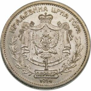 Czarnogóra, Mikołaj I Petrowic (1860–1918), 1 perpera 1914, Paryż