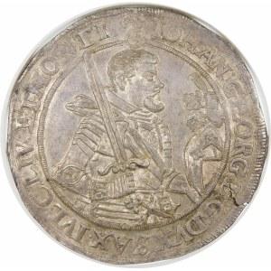 Niemcy, Saksonia - linia albertyńska (1547–1918), Jan Jerzy I (1615–1656), talar 1623, Drezno