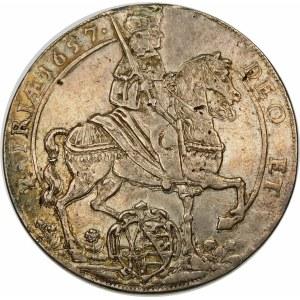 Niemcy, Saksonia - linia albertyńska (1547–1918), Jan Jerzy II (1656–1680), talar 1657, Drezno