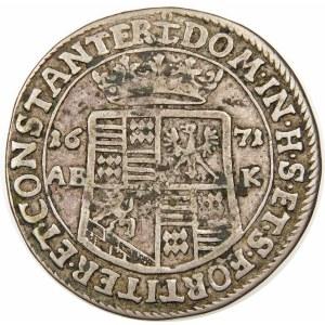 Niemcy, Mansfeld, Jan Jerzy III (1647-1710), 1/3 talara 1671