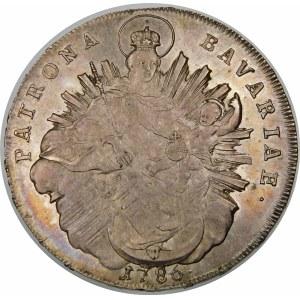 Niemcy, Pfalz - Sulzbach, Karol II Teodor (1777–1799), talar 1786 , Monachium – PATRONA BAVARIAE