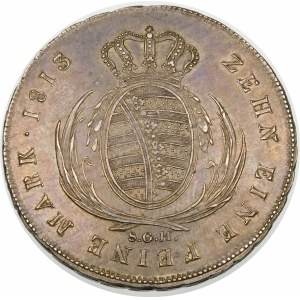 Niemcy, Saksonia - linia albertyńska (1547–1918), Fryderyk August I (1806–1827), talar 1813 SGH, Drezno