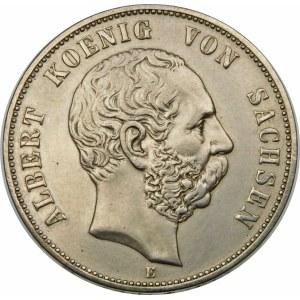 Niemcy, Saksonia - linia albertyńska (1547–1918), Albert I (1873–1902), 5 marek 1901 E, Drezno