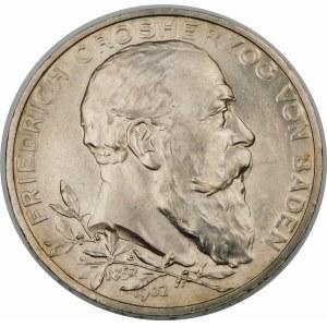 Niemcy, Badenia, Fryderyk I (1856–1907), 5 marek 1902, Karlsruhe - piękna
