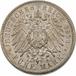 Niemcy, Saksonia - linia albertyńska (1547–1918), Albert I (1873–1902), 5 marek 1902 E, Drezno