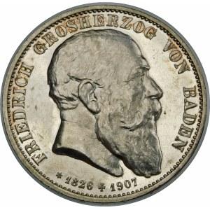 Niemcy, Badenia, Fryderyk I (1856–1907), 5 marek 1907, Karlsruhe
