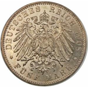 Niemcy, Bawaria, Otto (1886–1913), 5 marek 1908 D, Monachium