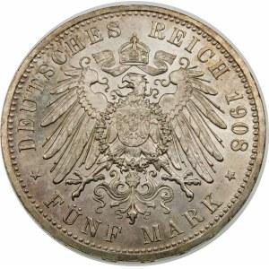 Niemcy, Saksonia-Weimar-Eisenach, Wilhelm Ernest (1901–1918), 5 marek 1908, Berlin