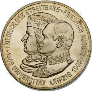 Niemcy, Saksonia - linia albertyńska (1547–1918), Albert I (1873–1902), 5 marek 1909, Drezno - wyśmienita